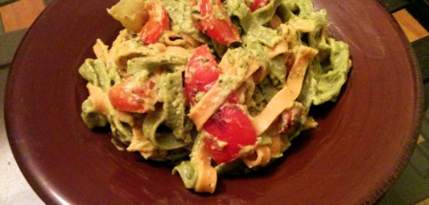 Pasta with Avocado Pesto