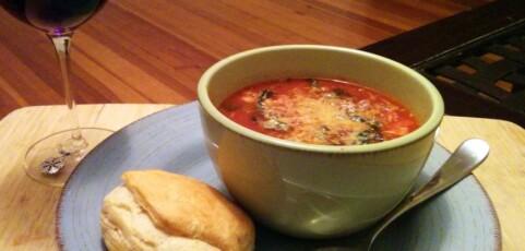 Lentil, Sausage, and Chard Soup
